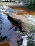 Sungai yang perlu di seberang untuk ke Koceng